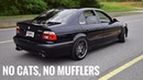Straight piped BMW E39 M5 exhaust LOUD