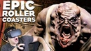 THOSE FREAKIN ZOMBIES COOKED ME ALIVE! - Epic Roller Coasters Dread Blood Rock Falls VR