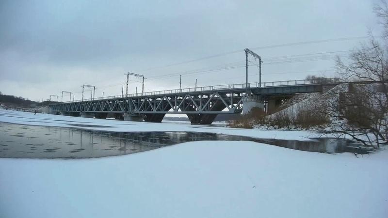 Поездка по водохранилищу на велосипедах и коньках. г.Новомосковск.