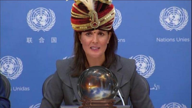 Psychic Nikki Haley Sil y a une future attaque darmes chimiques, Assad la fait