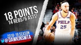 Ben Simmons Full Highlights 2018.12.07 76ers vs Pistons - 18 Pts, 14 Rebs, 6 Asts! FreeDawkins