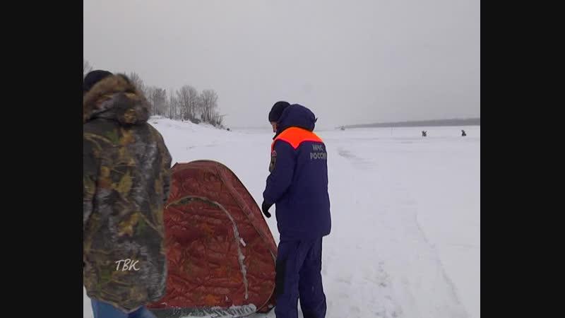 На злобу дня: рыболовы-любители создают трудности дорожникам в расчистке льда на будущем зимнике через Обь