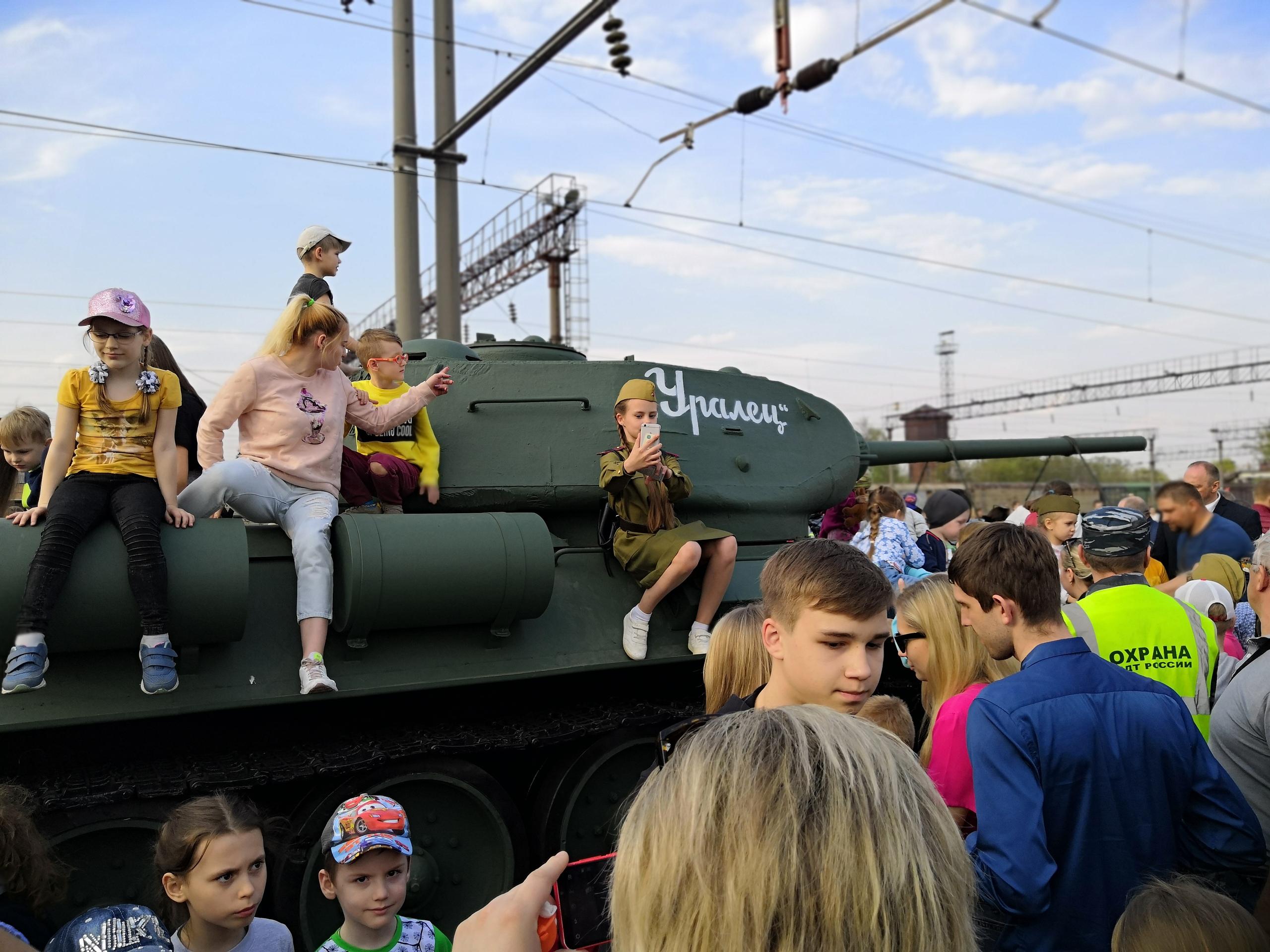 Несколько тысяч липчан встретили поезд Победы — Изображение 2