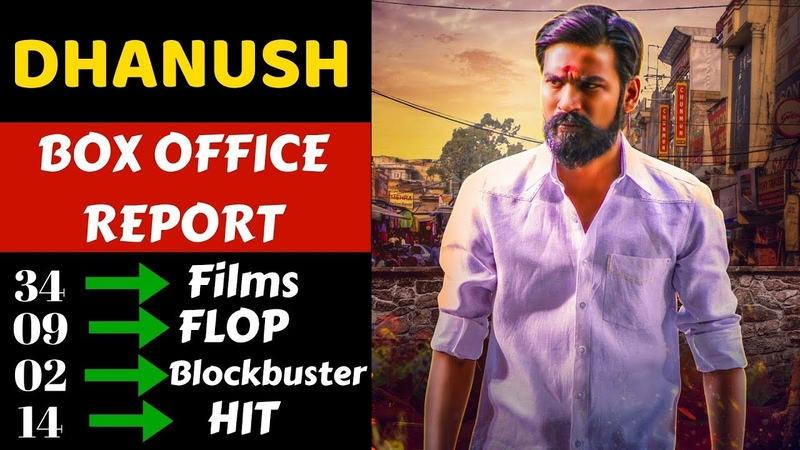 Dhanush Box Office Collection Analysis Hit, Flop and Blockbuster all Movies List
