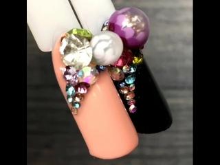 🍭 #CandyBall 🍭 Пошаговый Мастер Класс Дизайна Ногтей с Инкрустацией / Яркий Маникюр / Новинки 2018