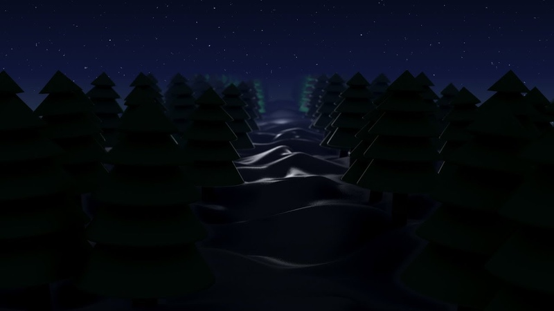 Let's create a jolly low-poly winter night scene with Trapcode TAO in After effects