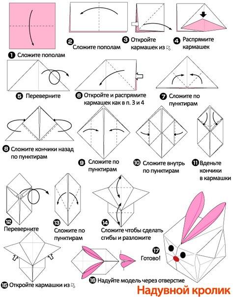 Как сделать кролик оригами