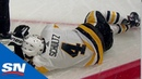 Penguins' Justin Schultz Helped Off Ice After Leg Folds Awkwardly On Fall