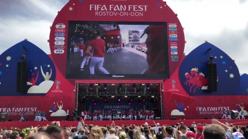 Шоу группа Ветер перемен на FIFAfanfest чм2018 Ростов