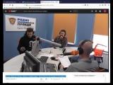 Михаил Кукота и Игорь Чехов в студии радио
