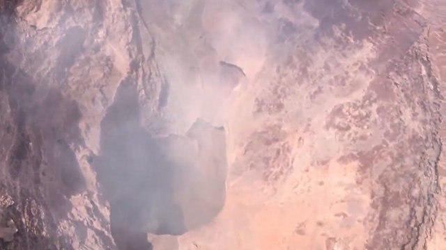 Обрушившееся дно кратера вулкана на Гавайях сняли с беспилотника