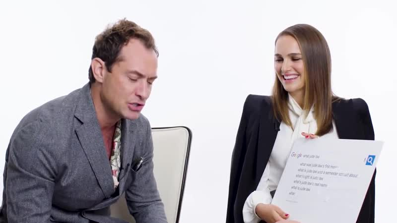 Natalie Portman Jude Law Answer the Webs Most Searched Questions