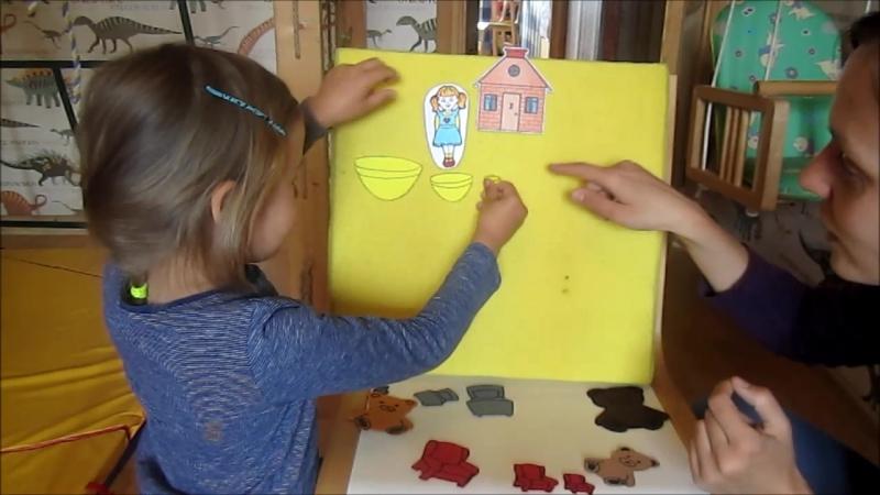 Goldilocks flanel board
