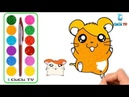 Learn colors Learn numbers for kids with Cute Hamster Watermelon Glitter