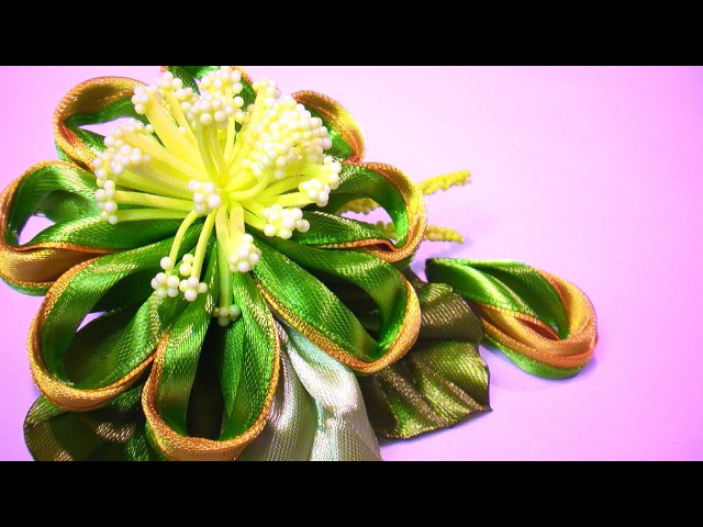 Новый Лепесток Канзаши МК / How to Make Petals out of Ribbon / DIY Flower Petals