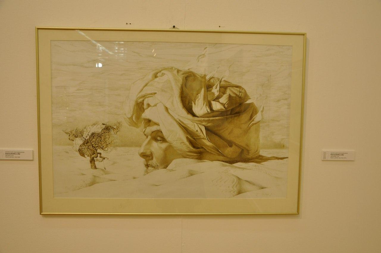 Белорусский союз художников  Всеволод Швайба (р. 1983)  Автопортрет. 2010  Бумага, цветная тушь, перо, кисть