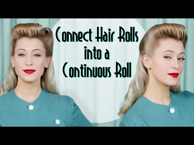 Continuous Roll 1940s Vintage Hairstyle Tutorial with help from the Roll Go Hair Tool