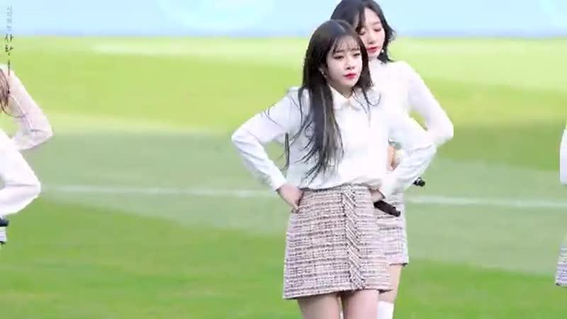 190309 러블리즈 대구 FC 개막전 축하공연 찾아가세요 토크 유지애 직캠 Lovelyz Yoojiae Lost N Found Fancam