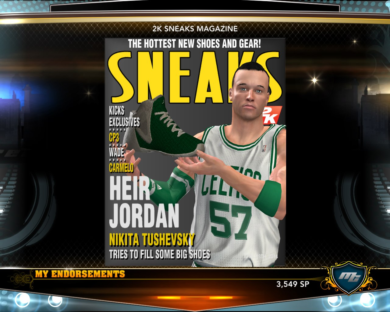 NBA2K13 basketball shoe FIRST MVP FROM KINGNIK