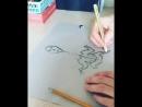 Drawing timelapse pereputal art