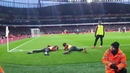 Arsenal vs Manchester United Guendouzi Alex Iwobi Ducks For Fans As Aubameyang Takes Penalty.