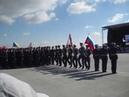 Вынос знамен 22-й Гвардейской Донбасской Краснознаменной тяжелой бомбардир. авиац. дивизии