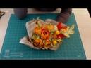 МК Осенние розы букет из конфет в крафт бумаге. Сборка букета. Упаковка 1 вариант.