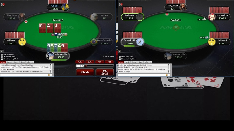 Omaha 5card PLO25 Pokerstars Омаха 5карт ПЛО25 часть 4
