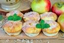 Творожные кексы с яблоками и семечками