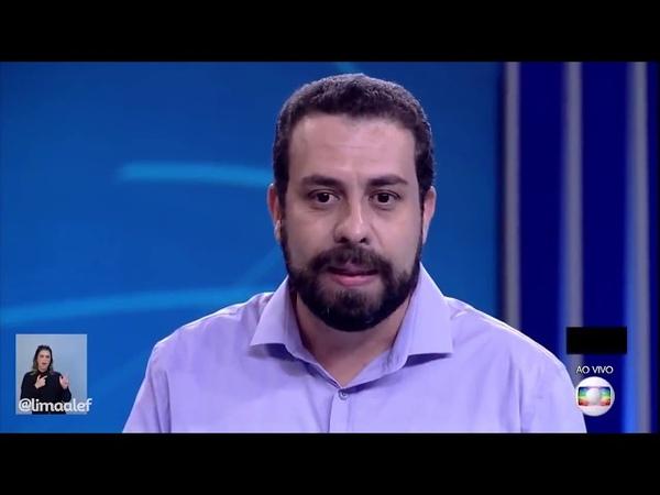 Guilherme Boulos falando da ditadura no Debate da TV Globo 041018