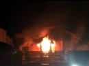 Загорелся банный комплекс на улице Партизанской