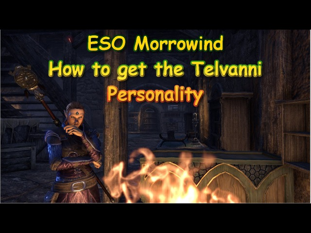 ESO Morrowind How to get the Telvanni Magister Personality