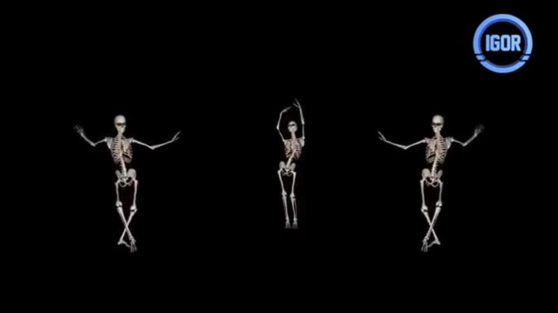 Spooky Scary Skeletons Dance Remix