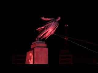 В Харьковской области за одну ночь вандалы разрушили два памятника Ленину - Первый канал