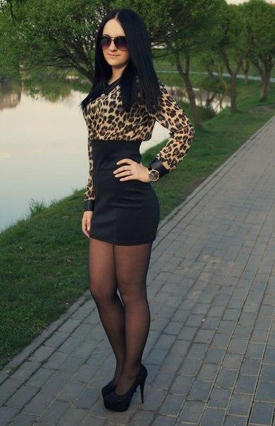 Фото девушки в юбках и в платьях вконтакте