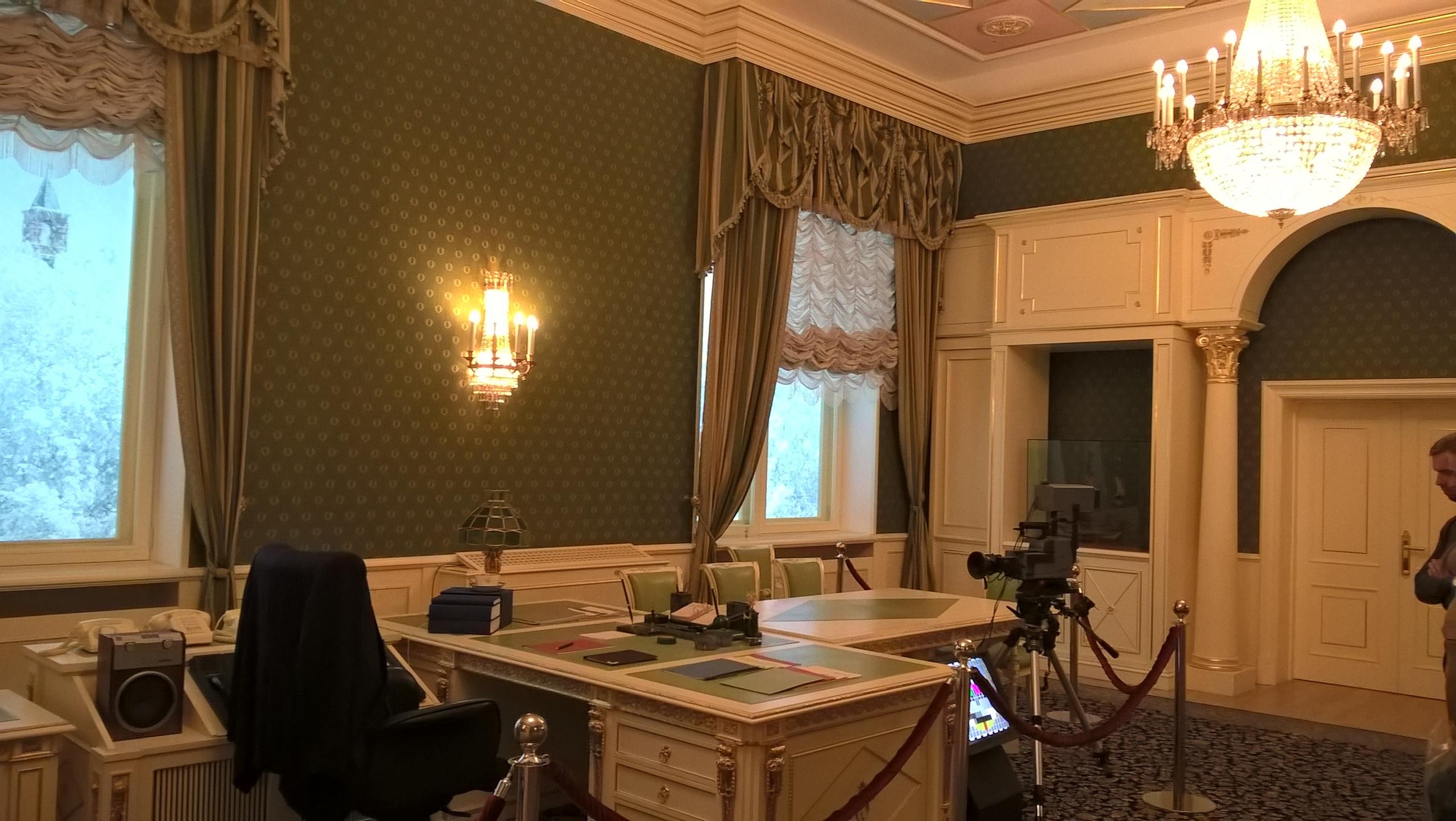 В музее Ельцина - рабочий кабинет Ельцина в Кремле