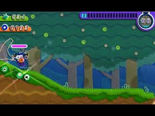 Kirby's extra epic yarn - новая мини-игра (nintendo 3ds)