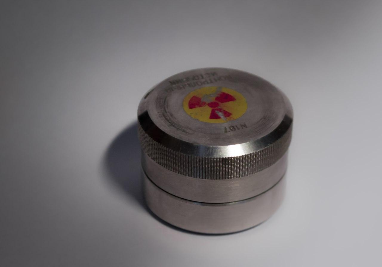 Контрольный источник от радиометра ДРГ tube us