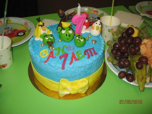 Нежный тортик дети были в восторге
