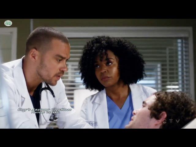 Grey's Anatomy 13x23 Jackson Stephanie and Patient Keith Season 13 Episode 23