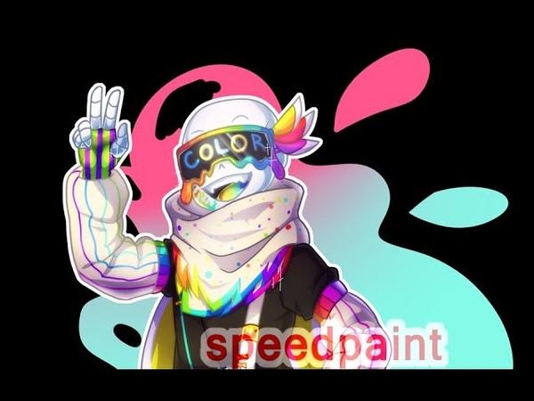 [Undertale au] Speedpaint - Fresh!Ink Sans