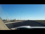 по дороге с облаками, где-то в Казахстане))