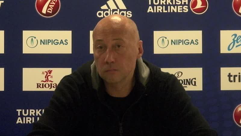 Пресс-конференция Василия Карасева после игры с «Партизаном»