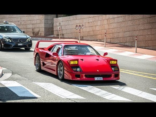 Terrorizing the Streets of Monaco in a Straight Piped Ferrari F40 !