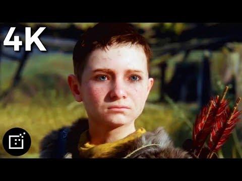 God of War 4 2018 Cinematic Trailer TV Spot 4K Ultra HD   PS4 Pro   Video Game Clips