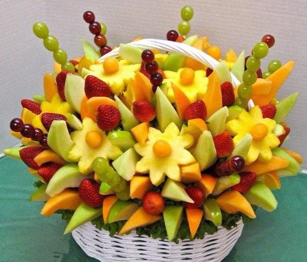 Корзины из фруктов фото своими руками