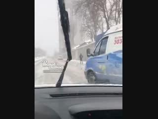 Гонки в Ростове после снегопада 16.11.2018 Ростов-на-Дону Главный