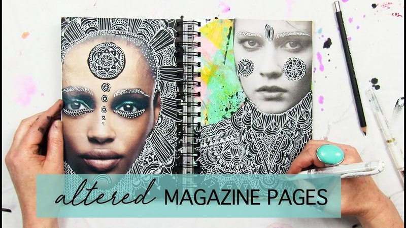 Altered magazine pages