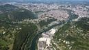Vol au dessus de Besançon Flying over Besançon France