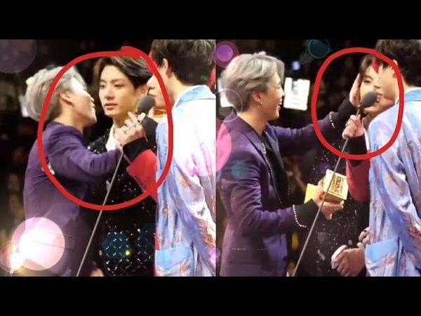 Bts Jimin wiped Jungkook tears 😭 hugged him.. Jikook moments ❤ at MAMA 2018 Hong Kong Japan
